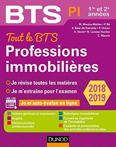 Tout le BTS Professions immobilières - 2018-2019 - 1re et 2e années par Muriel Mestre Mahler