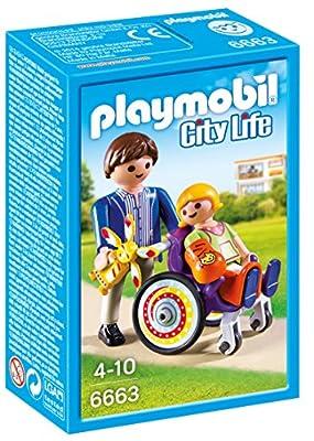 Playmobil - 6663 - Enfant avec fauteuil roulant et papa