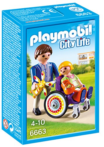Playmobil Child in Wheelchair Life niño Silla Ruedas, Color, única (6663)