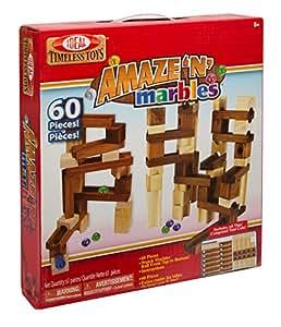 Idéal Amaze N Marbles 60pièces Classic Wood Jeu de construction