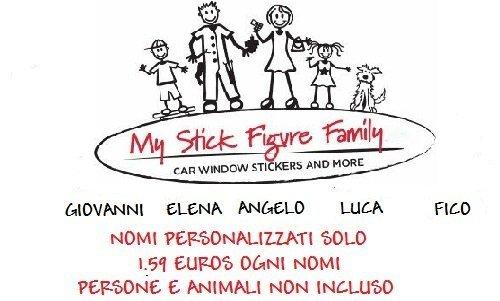 my-stick-figure-family-autoadesivi-dellautomobile-del-vinile-1-x-nome-personalizzato-1-x-nome-massim