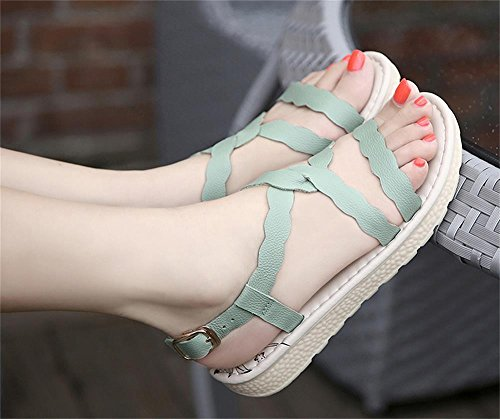ALUK- Chaussures de plage Bottom ( couleur : Vert clair , taille : 34 ) Vert clair