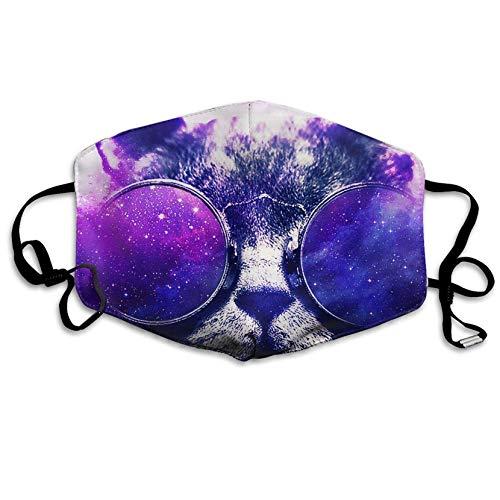 Louis Berry Staubdichte Maske wiederverwendbare Maske für Männer und Frauen Galaxy Sonnenbrille Katze Mund Maske Unisex