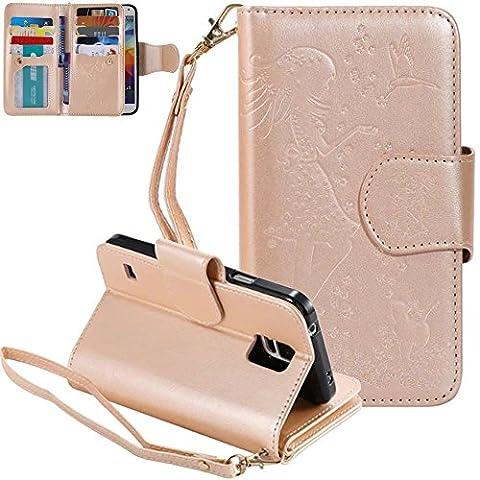 Nnopbeclik Coque Samsung Galaxy S5 New Mode Fine Folio Wallet/Portefeuille
