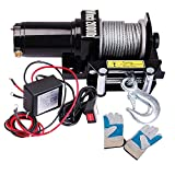 ReaseJoy 2000lbs(907kgs) 0.9HP Electric Recovery Winch Free Gloves for ATV UTV Jeep Trailer Truck 12V