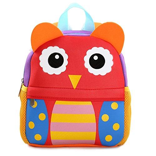 Yeelan Bolsa de escuela impermeable / mochila para los niños (búho)