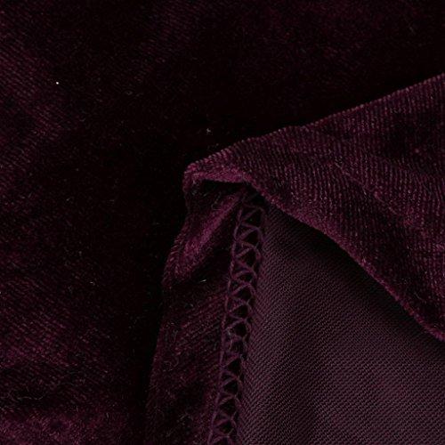 Robe Femme, Fulltime® Femmes Velvet manches longues Casual Party Mini robe de soirée Du vin