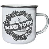 Nueva York Sello De Los Eeuu Retro, lata, taza del esmalte 10oz/280ml m327e