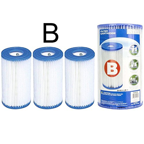 3 Cartouches de Filtration Intex pour filtre piscine - Intex TYPE B