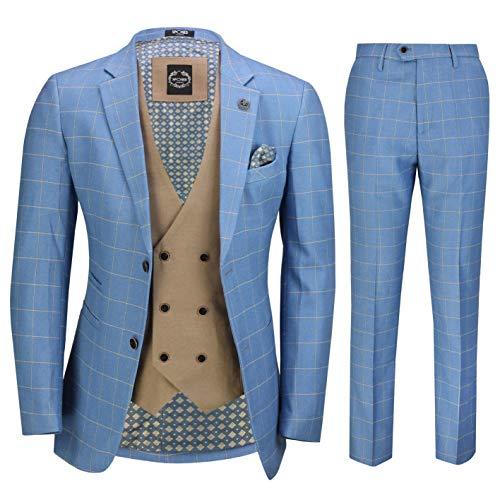 a00f1920c698 Xposed Herren Anzug Blau blau 116,84 cm 91,44 cm Gr. Größe