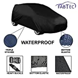 #9: Fabtec Original Waterproof Car Body Cover with Full Bottom Elastic, with Microfiber Glove and Bag Free Heavy Buckle for Maruti Swift New (Colour May Vary)
