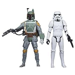 Star Wars – Mission Series – Boba Fett & Stormtrooper – Figurines 9 cm