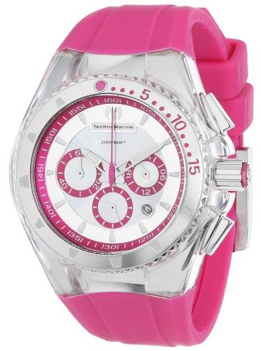 TechnoMarine 111031 - Reloj para mujeres, correa de silicona color rosa