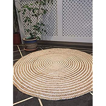 Second Nature Fair Trade 90 cm Rund Teppich Beige
