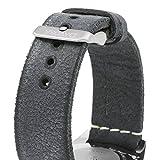Davosa Quartz Swiss Vintage Diver Blue Leather Strap Watch 16250045