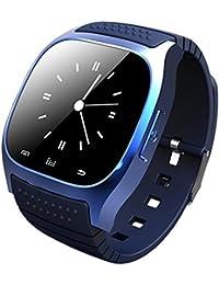 Leopard Shop rwatch m26s gestión inteligente de deportes de Bluetooth sueño podómetro reloj marcación SMS Azul