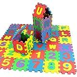 Koly 36pcs niño número alfabeto rompecabezas de espuma matemáticas juguete educativo regalo del bebé