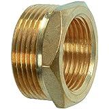 Cornat válvulas y Conexiones Reductor (latón, Rosca Exterior 1Pulgadas Plus Rosca Interior, 3/4Pulgadas, Multicolor