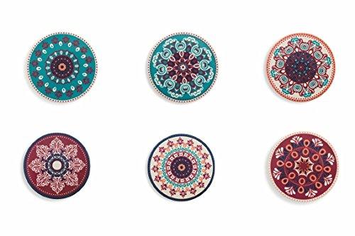Villa d'Este Home Tivoli Shiraz - Salvamantel de cerámica, multicolor