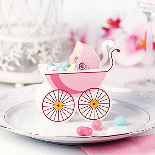 Preisvergleich Produktbild 10 Geschenkboxen - Kinderwagen, pink