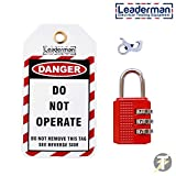 Wisamic Lockout Station with 10 Safety Padlocks 2 Lockout Hasps 24 Lockout Tags Translucent Acrylic Cover
