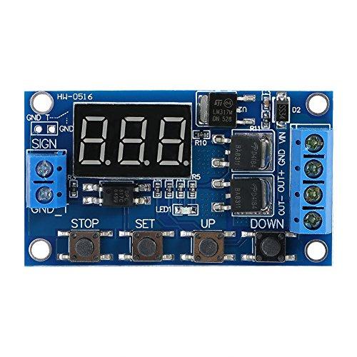 Akozon Zeitgeber Relais Modul Zeitverzögerungsrelais DC 5V - 36V Trigger Zyklus Verzögerung Zeitschaltuhr Ein/Ausschalten Relaismodul mit LED-Anzeige Trigger Delay Digital LED Board -