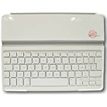 Logitech Ultrathin Keyboard Cover Bluetooth AZERTY Francés Color blanco teclado para móvil - teclados para móviles (Color blanco, Mini, AZERTY, Francés, Batería, USB, Inalámbrico)