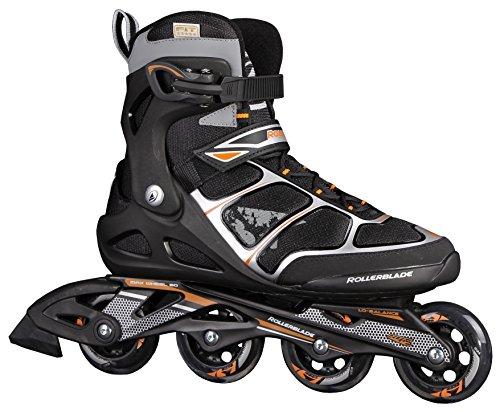 Rollerblade Astro Comp - Patines en línea para hombre, color negro / naranja, talla 43