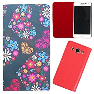 DooDa - For Samsung Galaxy A7 PU Leather Designer Fashionable Fancy Flip Case Cover Pouch With Smooth Inner Velvet