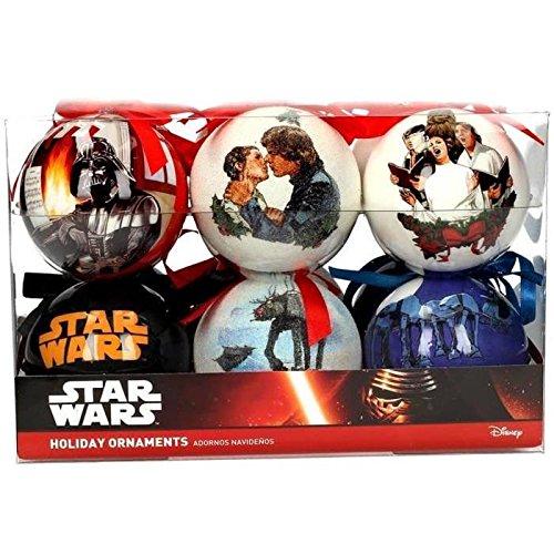 Star Wars Sdtsdt89744 Set Bolas de Navidad, Blanco, 22x15x15, 12 Unidades