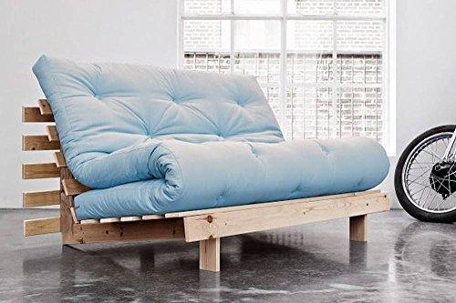 Sofa-BZ-skandinavischer-Stil-Roots-Natural-Futon-blau-Celeste-Schlafsack-140-200-cm