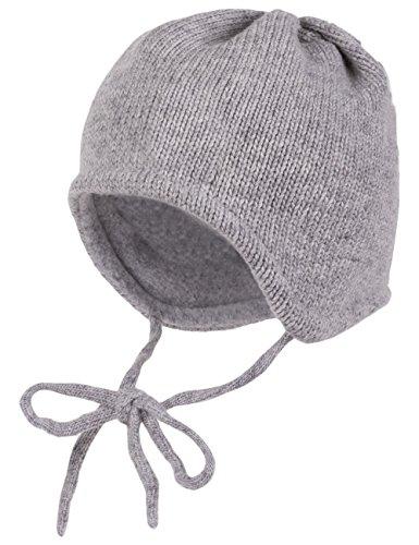 maximo Baby-Jungen Mütze, Ausgenäht, Bindeband, Wollmix, Grau (Graumeliert 5), 41 cm (Herstellergröße: 41)