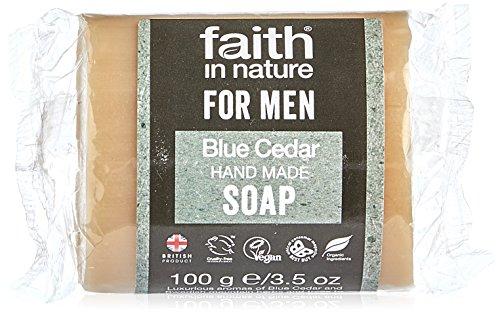 Faith In Nature Hand Made For Men Blue Cedar Soap 100g
