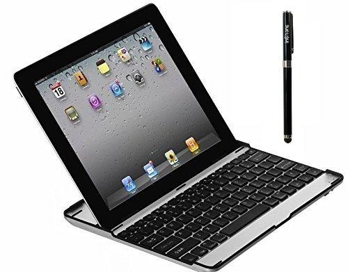 inShang Aluminum Case with Built-In Wireless Bluetooth Tastatur/Keyboard/Tastaturen f¨¹r iPad 4/iPad 3 and iPad2 mit one high end business stylus (Ipad2 Case Mit Tastatur)