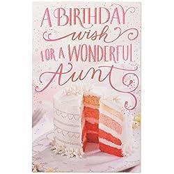 Pink Kuchen Geburtstagskarte für Tante mit Glitzer