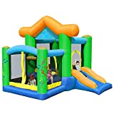 EXCLVEA Outdoor Hüpfburg Kinder aufblasbare Hüpfburg Indoor Trampolin Großes Spiel Bouncer Haus...