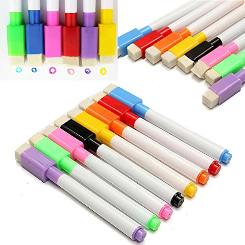 8-colors-magnetic-dry-erase-white-board-markers-pens-with-built-in-eraser-1-sticky-notes-book