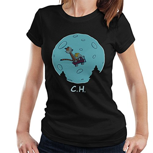 Flying Wagon Ch Et Calvin and Hobbes Women's T-Shirt