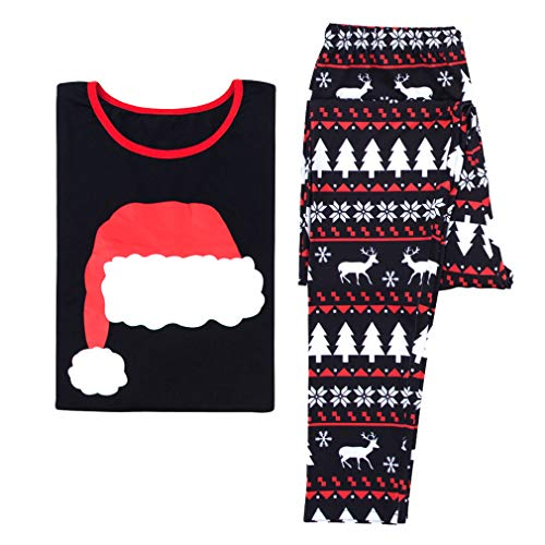 MEIHAOWEI Familie Weihnachten Pyjama Weihnachtsmann Familie Matchig Kleidung X-Mas Pjs Mutter Tochter Vater Sohn Nachtwäsche Familie Look Nachtwäsche DAD L