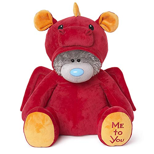 Me To You Tatty Teddy Red Dragon - Oso de Peluche, Color Rojo