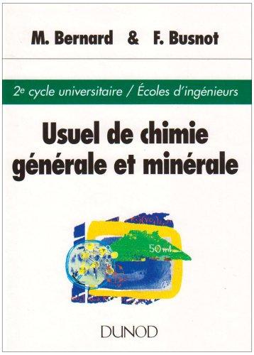 Usuel de chimie générale et minérale