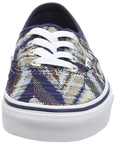 Vans Authentic Marble, Chaussures Mixte Adulte Bleu (Woven Chevron - Dress Blues/True White)
