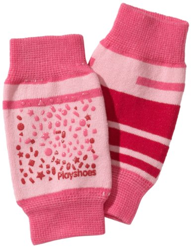 Playshoes Unisex - Baby Set 498803 Baby Knieschoner, rutschhemmend, Gr. one size, Mehrfarbig (Pink)