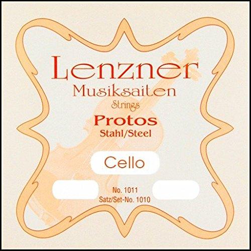 Lenzner Protos Violine Flachdraht chrom Stahlsaiten, E-1/2Größe - Proto 0.5