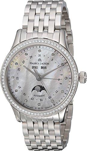 Maurice Lacroix lc6057-sd502-17E-Les Classiques de la Mujer analógica Swiss automático Reloj Plateado