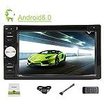 Anroid6.0 estéreo del coche en el tablero de unidad principal Doble Din Car GPS Soporte Mapa 3D con 6.2 pulgadas de pantalla de la capacidad de apoyo de Bluetooth del volante del coche del escáner entretenimiento Soporte de tarjetas SD / USB / WIFI / 3G / 4G