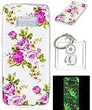 Ultra Slim Dünn Silikon Luminous Silikonsoftshell TPU für Galaxy S8, Niedliche Cartoon Malerei,Premium Handy Tasche Schutz Hülle (WW9)