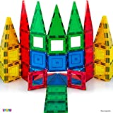 MAGEES Magnetic Building Blocks 35 Set - Magnet Toys Building, Strongest Magnets - Magnetic Tiles Includes Bonus 5 Piece Insert Number Cards - STEM 3D Magnet Tiles - Magees - By Play22