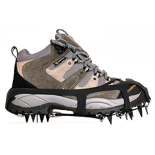 Kottle Ramponi universale 18 denti in acciaio Ice grip antiscivolo neve e ghiaccio trazione tacchette scarpe catene sicuro proteggono scarpe (L 40-44)