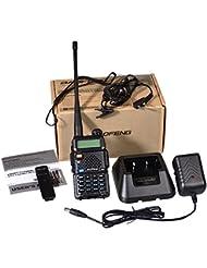 Baofeng UV-5R - Radio Walkie Talkie, color negro